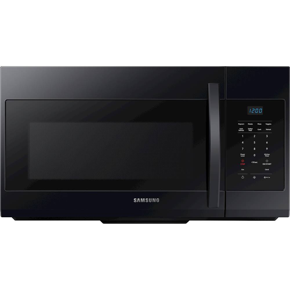 samsung 1 7 cu ft over the range microwave black