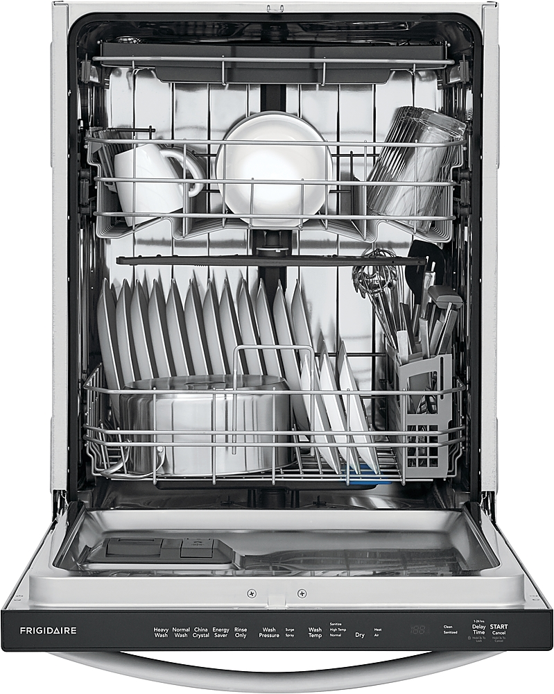 frigidaire 24 top control built in dishwasher with stainless steel tub 3rd rack 49 dba stainless steel