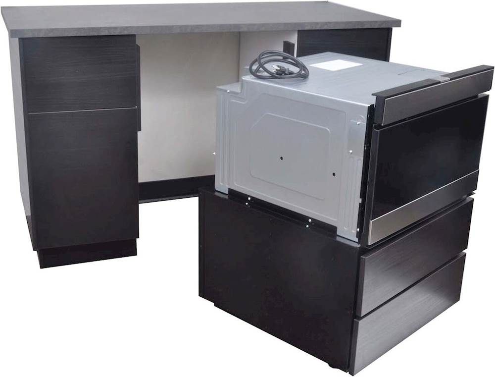 24 drawer pedestal for select 24 sharp microwave oven stainless steel