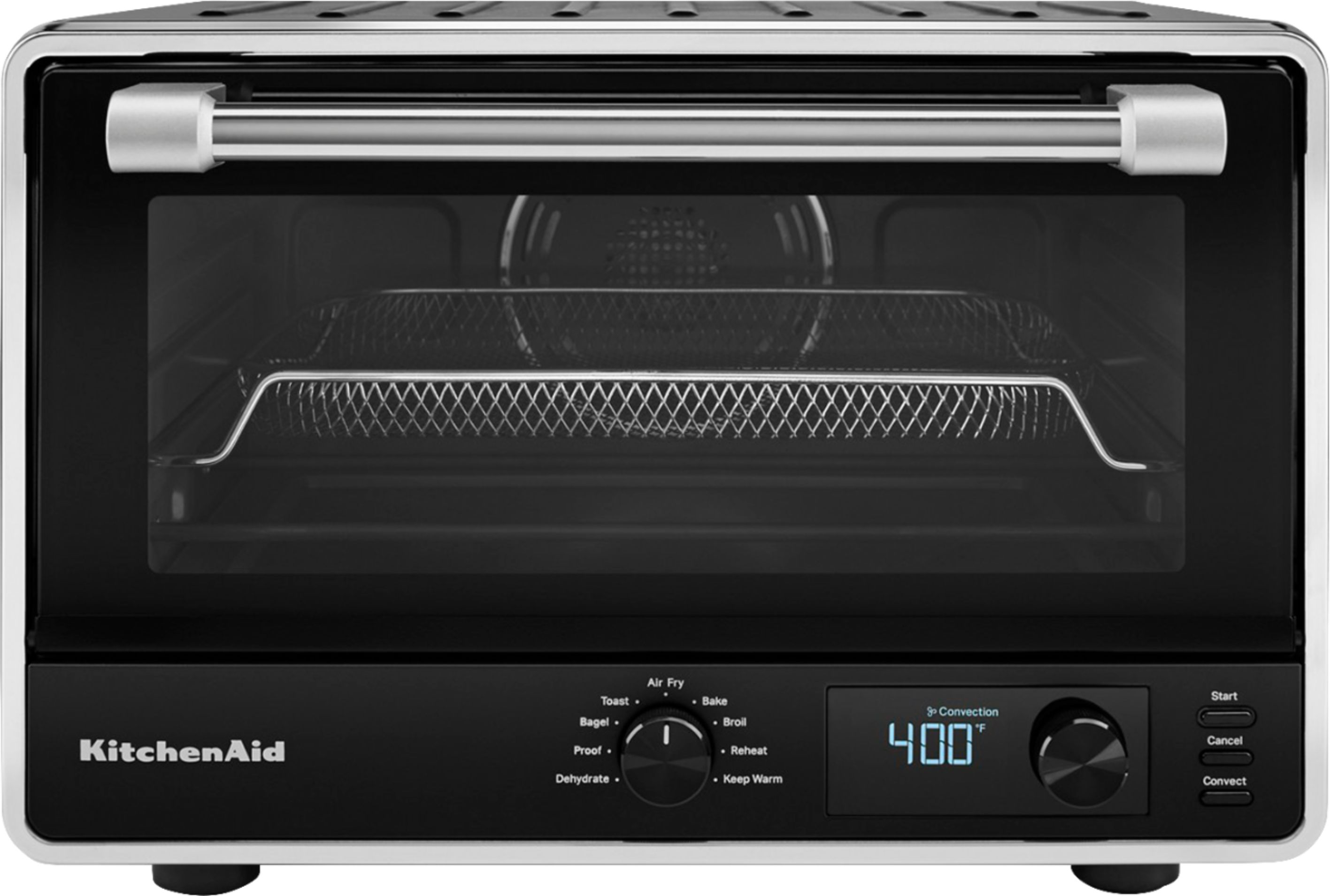 kitchenaid digital countertop oven with air fry black matte