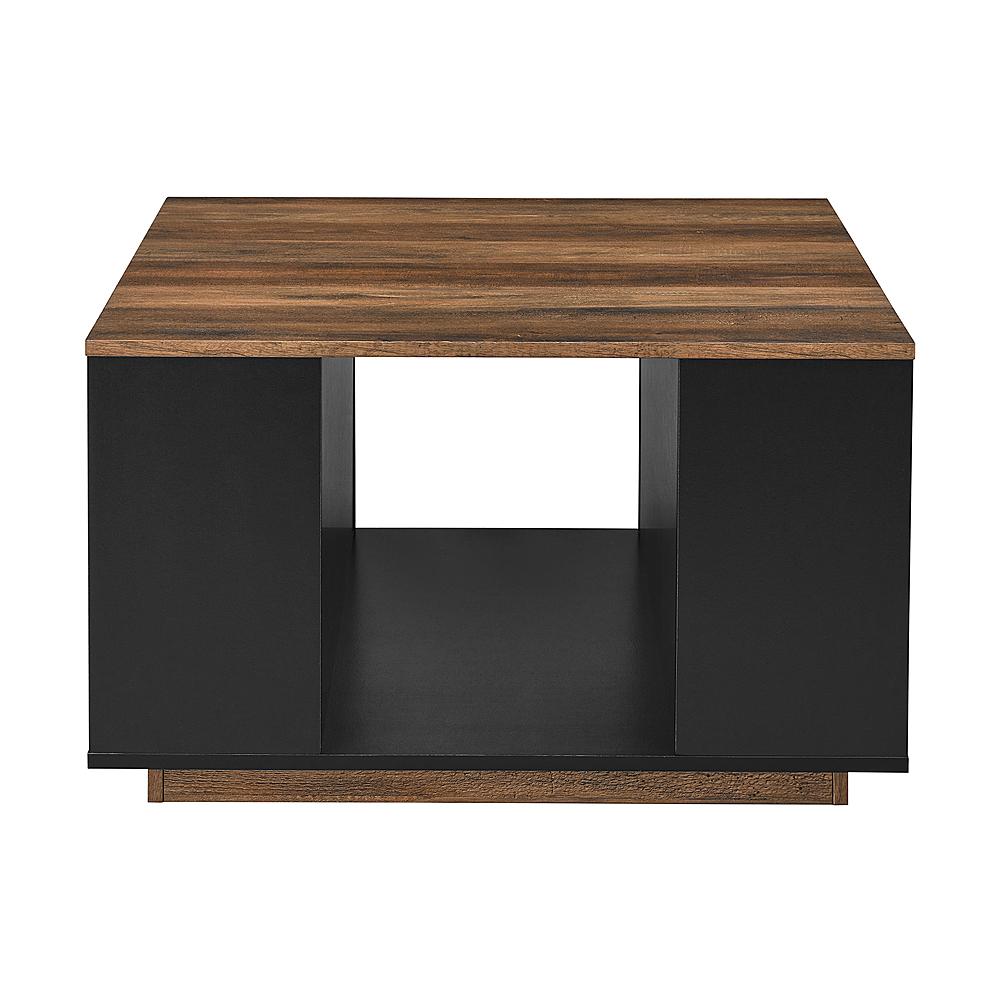 walker edison 30 square coffee table reclaimed barnwood