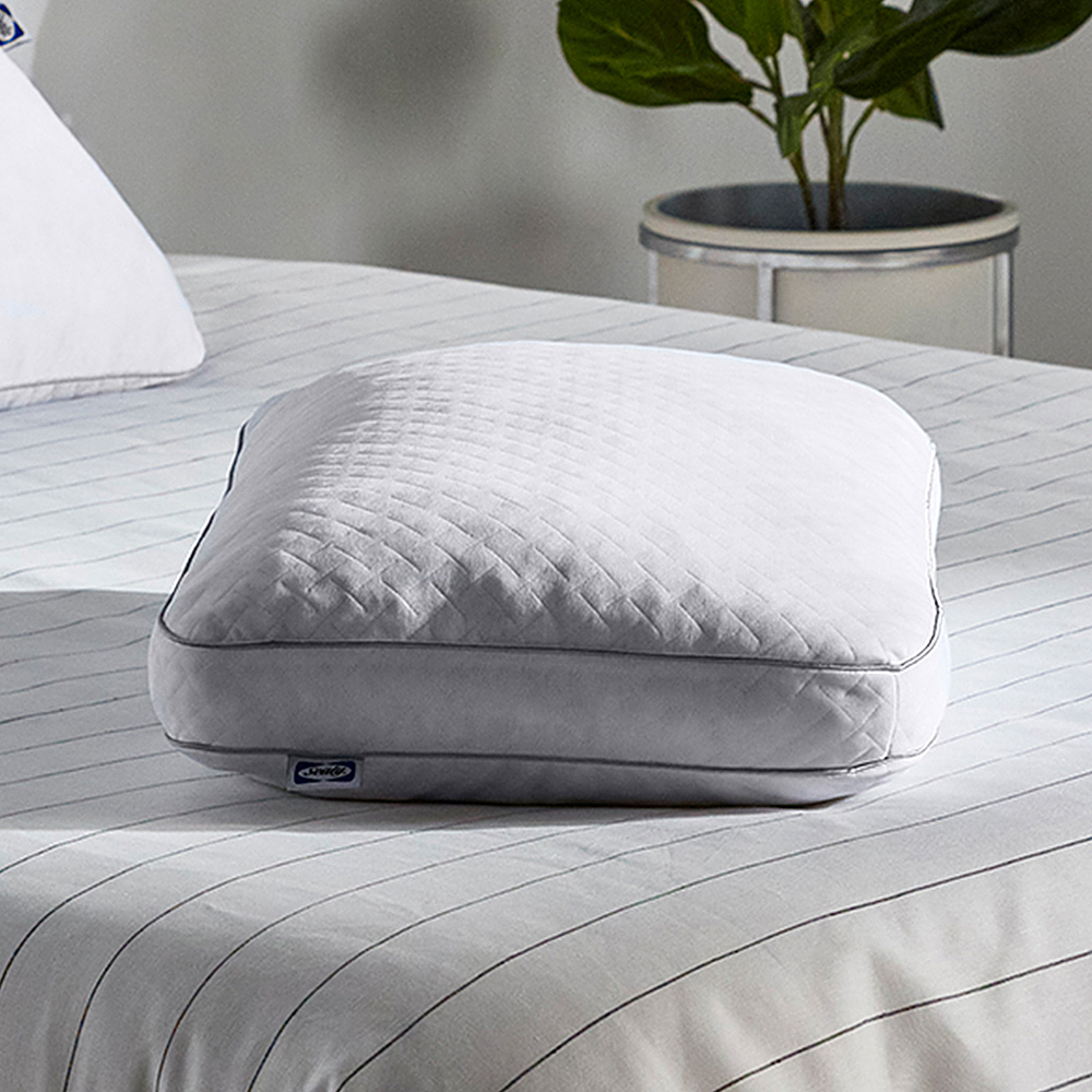 sealy memory foam cluster pillow white