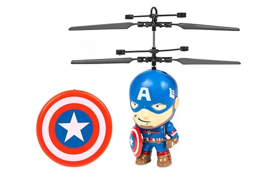 World Tech Toys - Marvel 3.5 Inch Captain America Flying Figure IR Helicopter - Multi