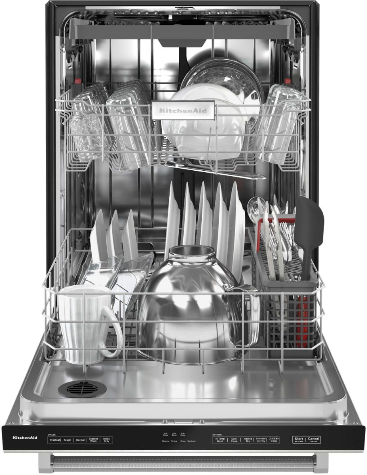 kitchenaid 24 top control built in dishwasher with stainless steel tub printshield finish 3rd rack 39 dba stainless steel with printshield