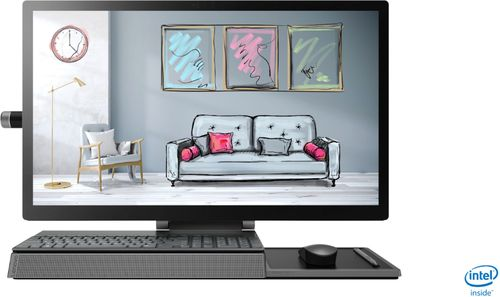 """Lenovo - Yoga A940 27"""" Touch-Screen All-In-One - Intel Core i7 - 16GB Memory - 1TB Hard Drive + 256GB Solid State Drive - Grey"""
