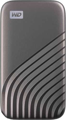 WD - My Passport 2TB External USB Type-C Portable Solid State Drive - Space Gray