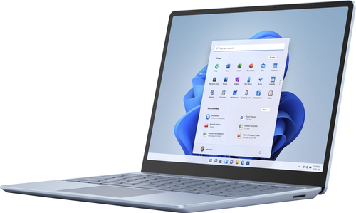 """Microsoft - Surface Laptop Go - 12.4"""" Touch-Screen - Intel 10th Generation Core i5 - 8GB Memory - 128GB Solid State Drive - Ice Blue"""