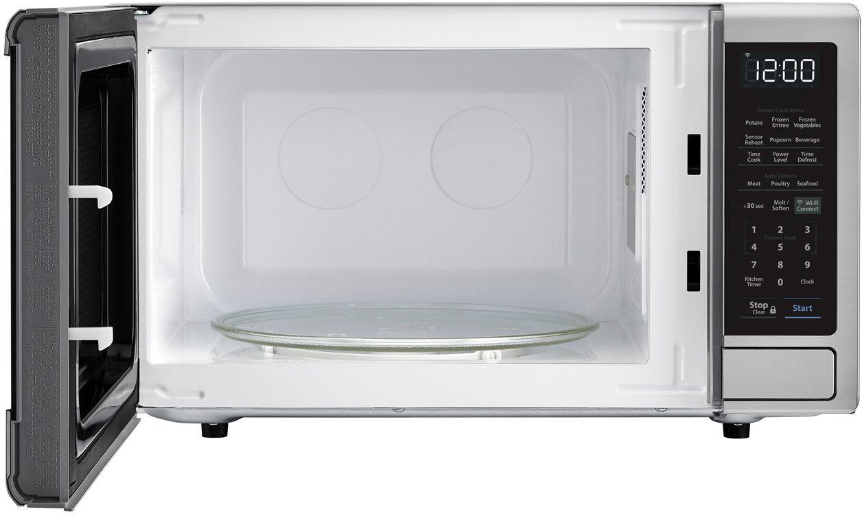 sharp carousel 1 4 cu ft microwave with amazon alexa stainless steel