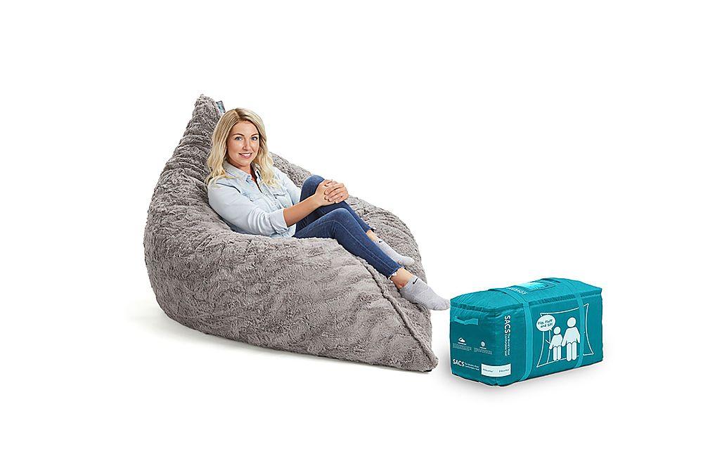 lovesac pillowsac in dense phur 2 boxes chinchilla