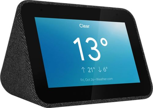 Lenovo - Smart Clock with Google Assistant - Charcoal