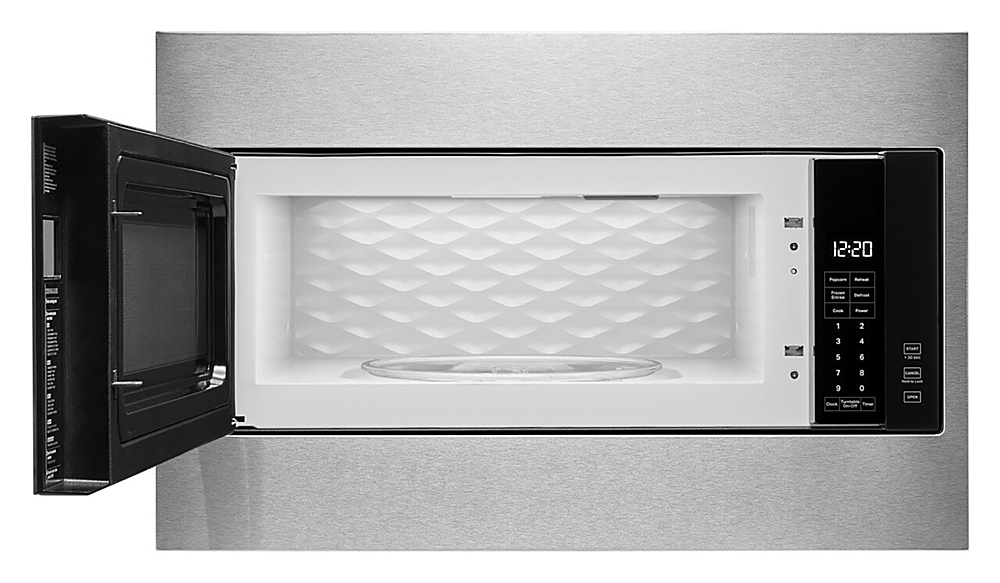 whirlpool 1 1 cu ft built in microwave with standard trim kit stainless steel