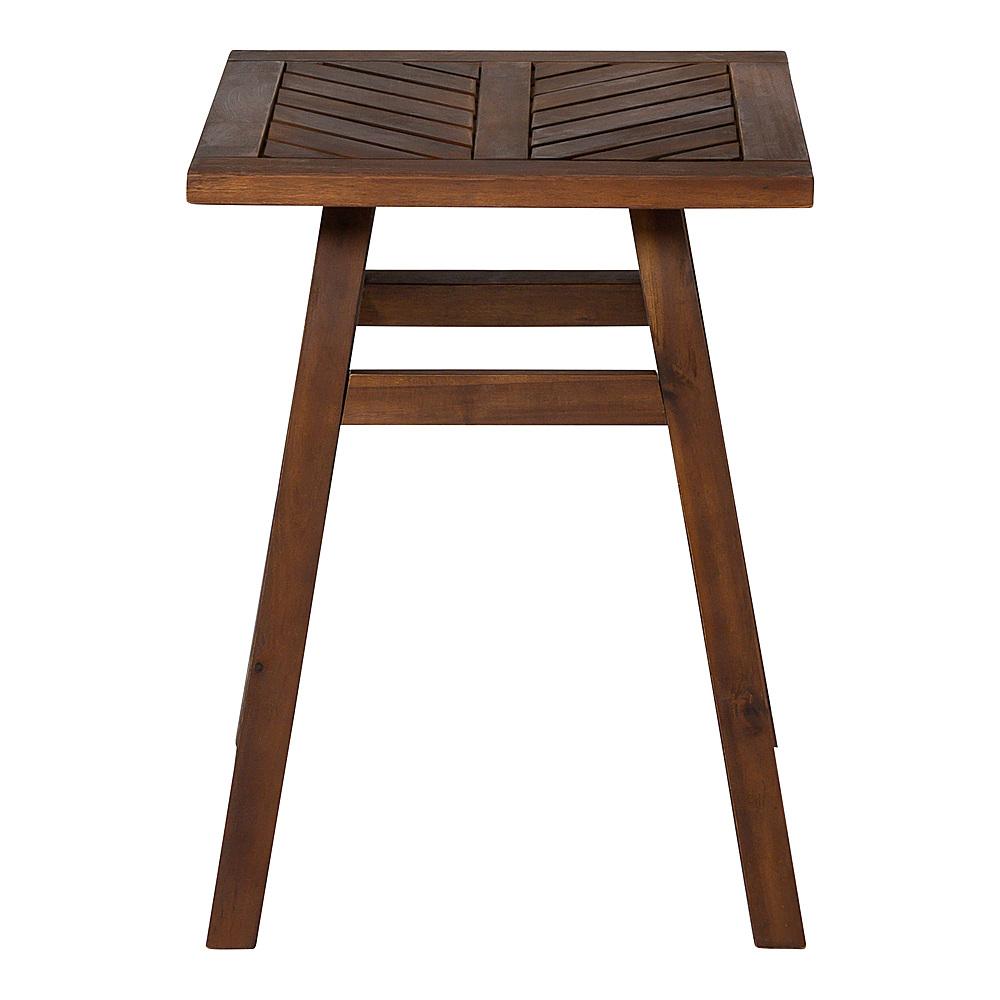 walker edison windsor acacia wood outdoor side table dark brown