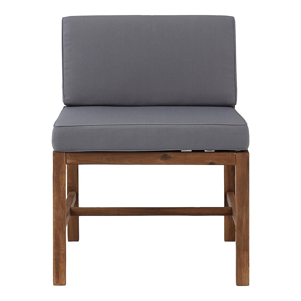 walker edison harbor acacia wood patio chair brown