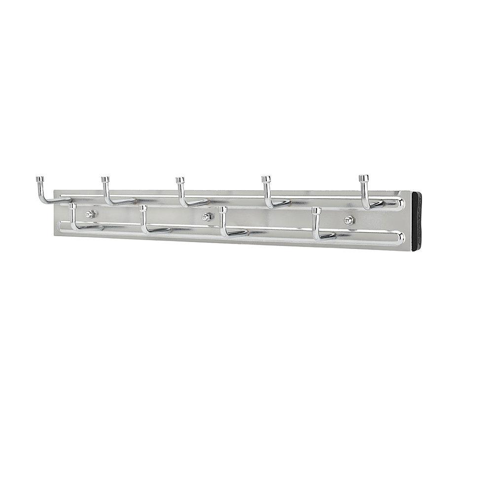 rev a shelf wall mounted pullout belt rack organizer chrome