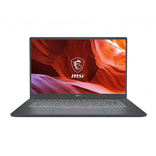 "MSI - Prestige 15.6"" 4K UHD Laptop - Intel Core i7-10710U - 32GB Memory - 1TB Solid State Drive - Windows 10 Pro - Gray with Blue Diamond cut"