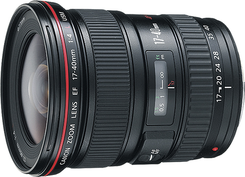 Canon - EF 17-40mm f/4L USM Ultra-Wide Zoom Lens - Black