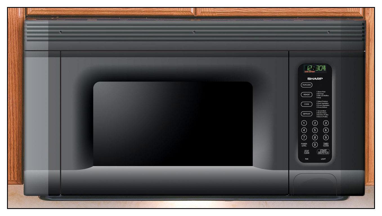 sharp 1 4 cu ft over the range microwave black