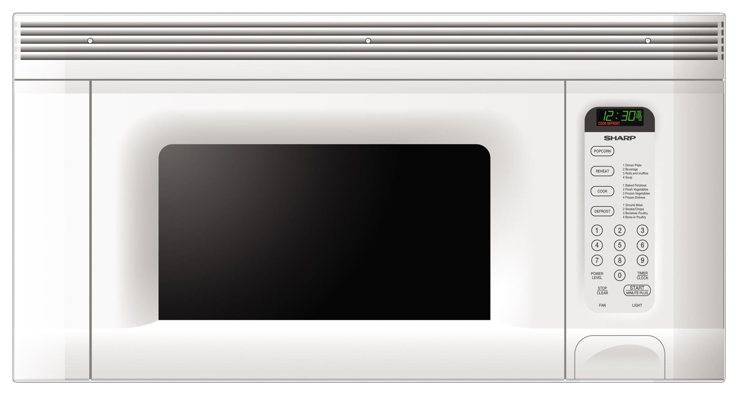 sharp 1 4 cu ft over the range microwave white