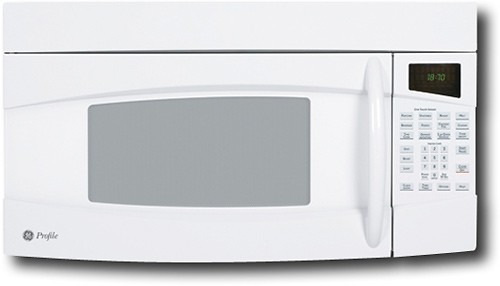 ge profile spacemaker 1 8 cu ft over the range microwave white