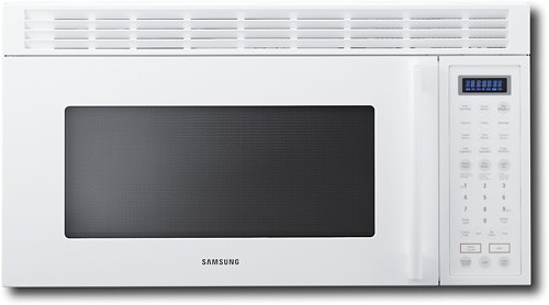 samsung 1 8 cu ft over the range microwave white