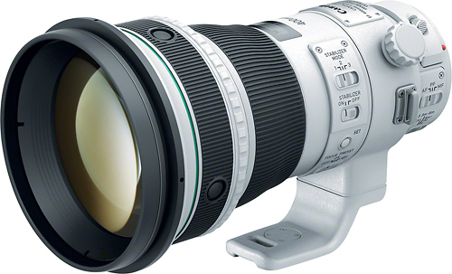 Canon - EF 400mm f/4 DO IS II USM Super Telephoto Lens for Canon EOS SLR Cameras - Silver/Black