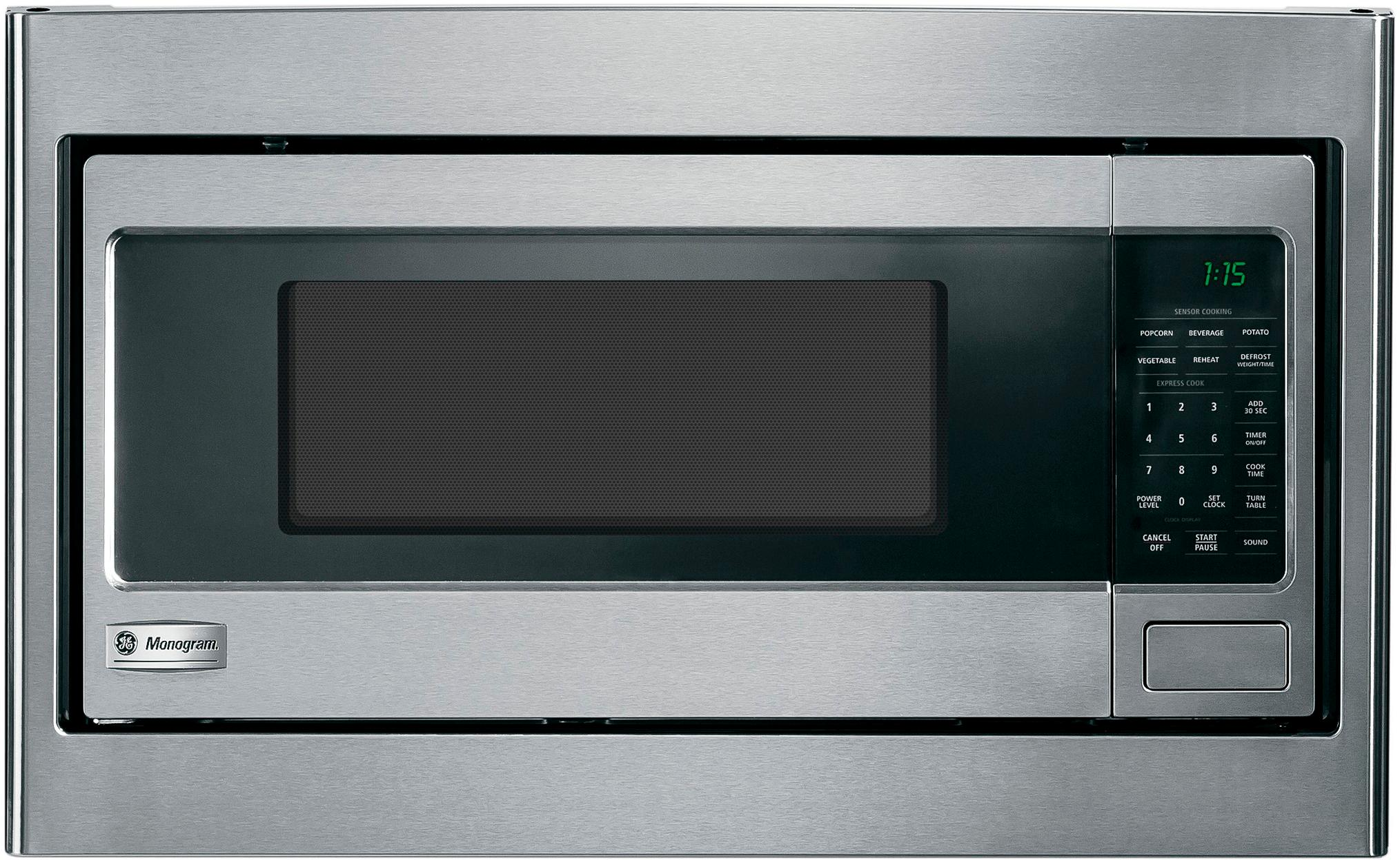 27 built in trim kit for select ge microwaves stainless steel