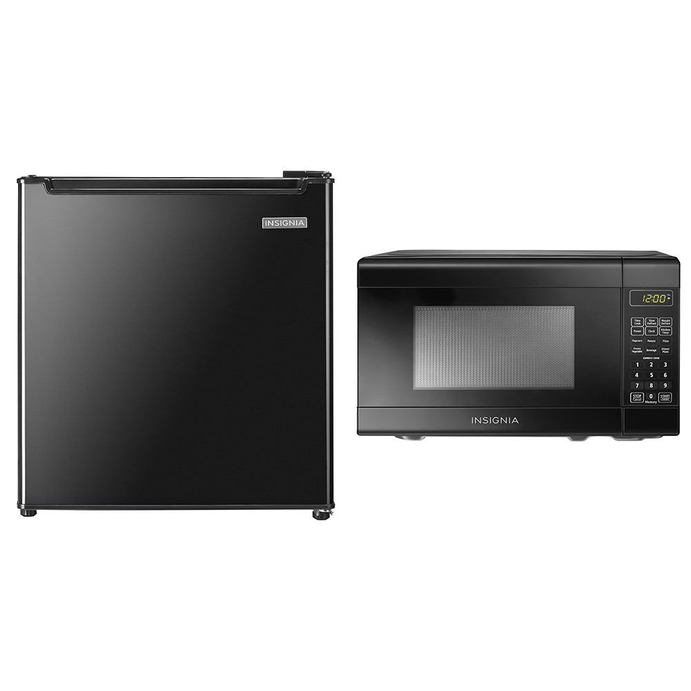 compact microwave and mini fridge