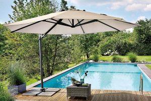 Sombrillas para terrazas con elegante diseño para piscinas de arena