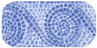 Frise de piscine Carthage bleu