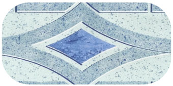 Frise de piscine Mallorca bleu