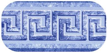 Frise de piscine Mykonos plus bleu