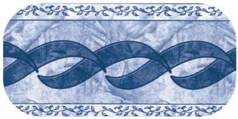 Frise de piscine Olympia bleu