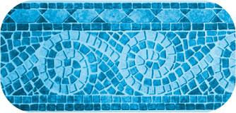 Frise de piscine Genova Bleu