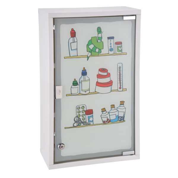HI Dulap de medicamente, 30 x 15 x 50 cm, oțel inoxidabil