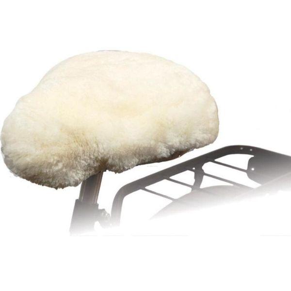 Willex Husă pentru șa de bicicletă din piele de oaie, natural