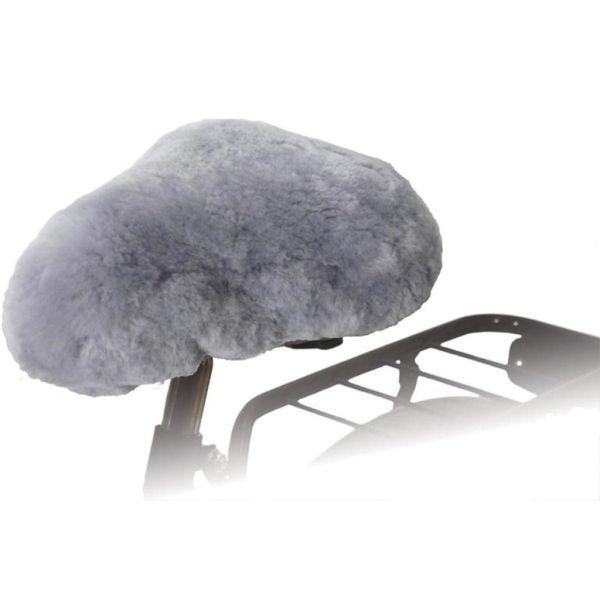 Willex Husă pentru șa bicicletă, gri, piele de oaie, 30135