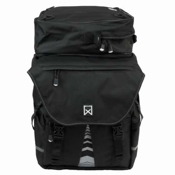 Willex Coșuri bicicletă cu geantă XL 1200 negru 65 L 13411
