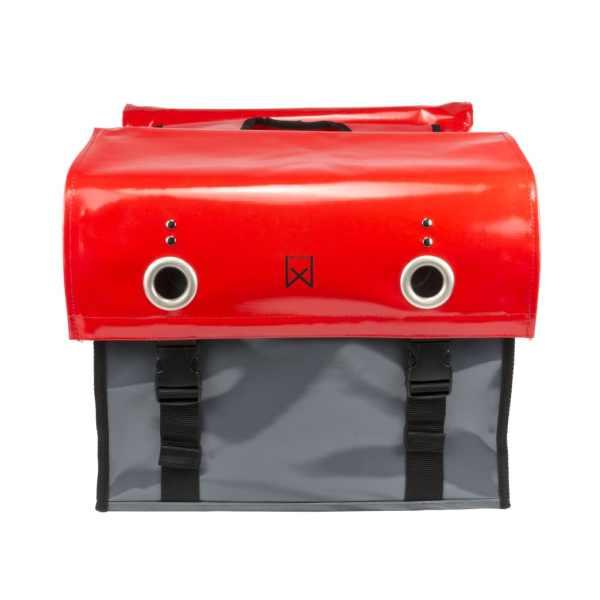 Willex Geantă pentru ziare, roșu și gri închis, 52 L, 10929