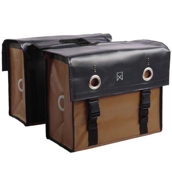 Willex Geantă pentru ziare, negru mat și maro mat, 52 L, 10944