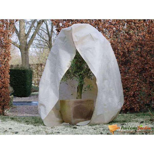 Nature Husă anti-îngheț din fleece cu fermoar bej 2 x 2,5 m 70 g/m²