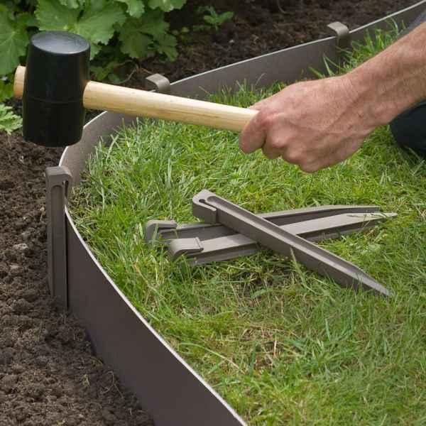 Nature Țăruși de fixare pentru grădină, 10 buc., gri taupe