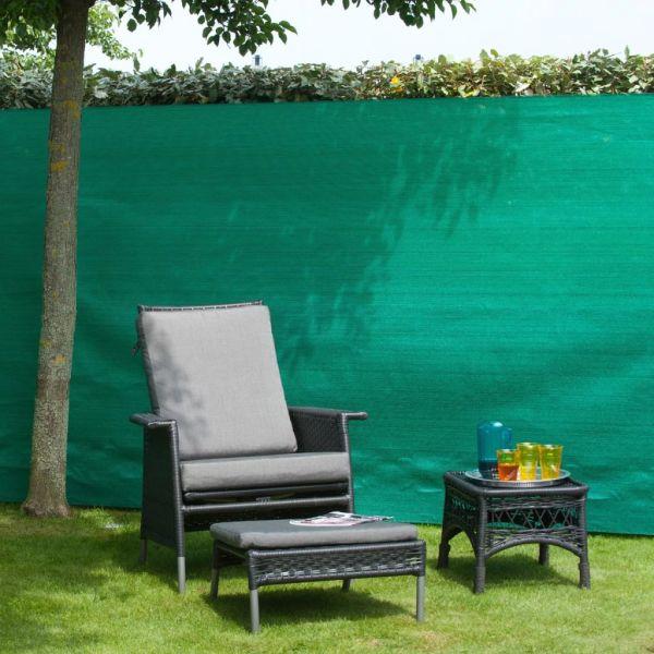 Nature Gard de grădină paravan din plasă, verde, 1,5 x 5 m, PE