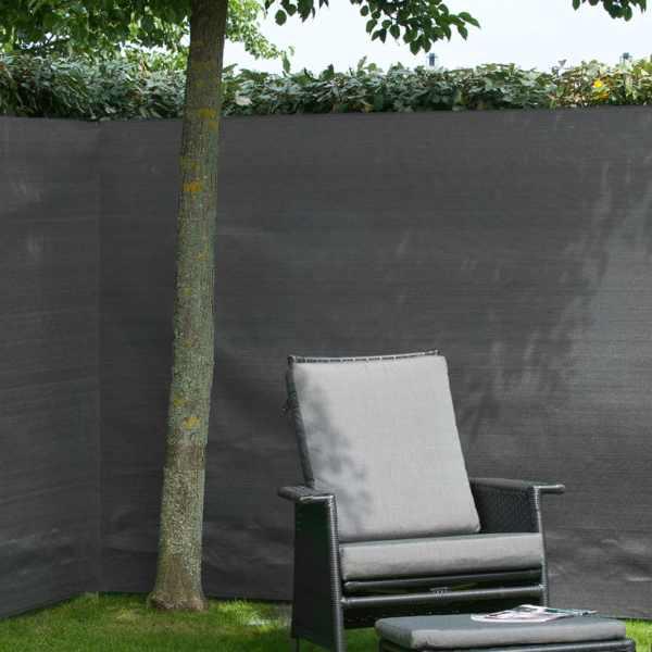 Nature Gard de grădină paravan din plasă, antracit, 1,2 x 5 m, PE