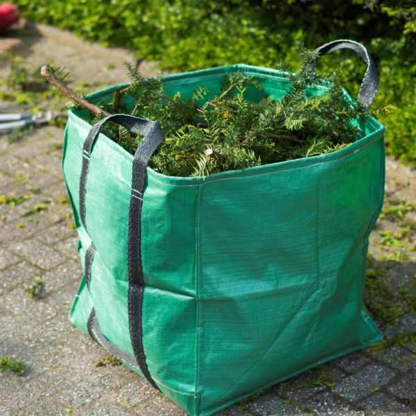 Nature Sac de deșeuri pentru grădină, verde, 148 L, pătrat