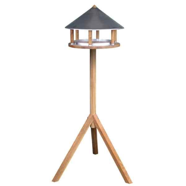 Esschert Design Hrănitor păsări triunghiular cu acoperiș de zinc FB431