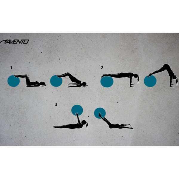 Avento Minge de fitness/gimnastică, roz, diam.75 cm