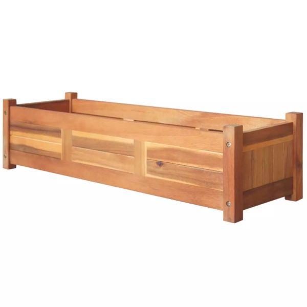 vidaXL Strat înălțat de grădină, 100x30x25 cm, lemn de acacia