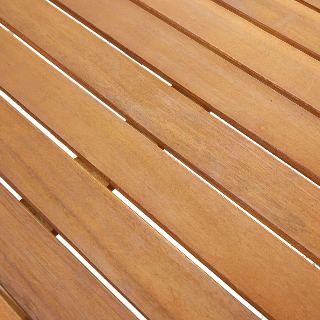 Masă de grădină, 140 x 80 x 74 cm, lemn masiv de acacia