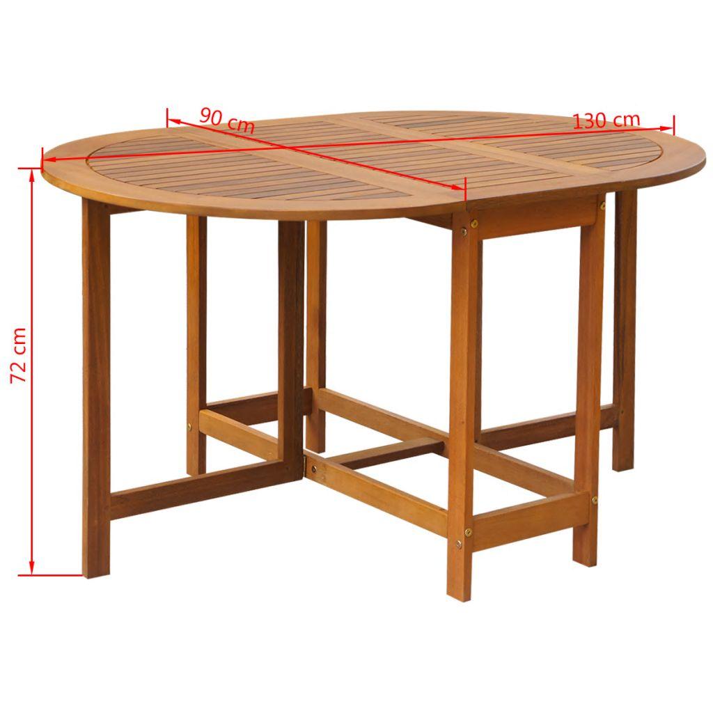 Masă de grădină, 130 x 90 x 72 cm, lemn masiv de acacia