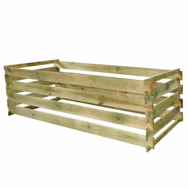 Compostor cu stinghii, 160 x 80 x 58 cm, lemn de pin tratat